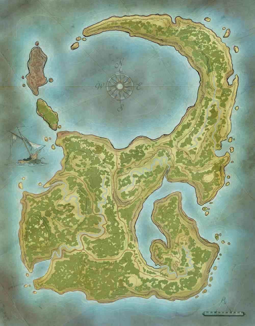 Island Rpg Fantasy Map